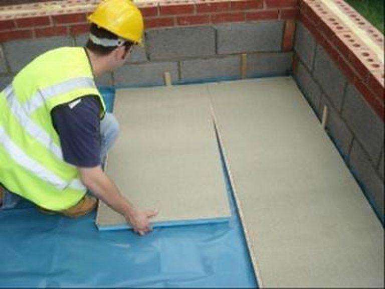 Утепление бетонного пола в частном доме своими руками пеноплексом 83