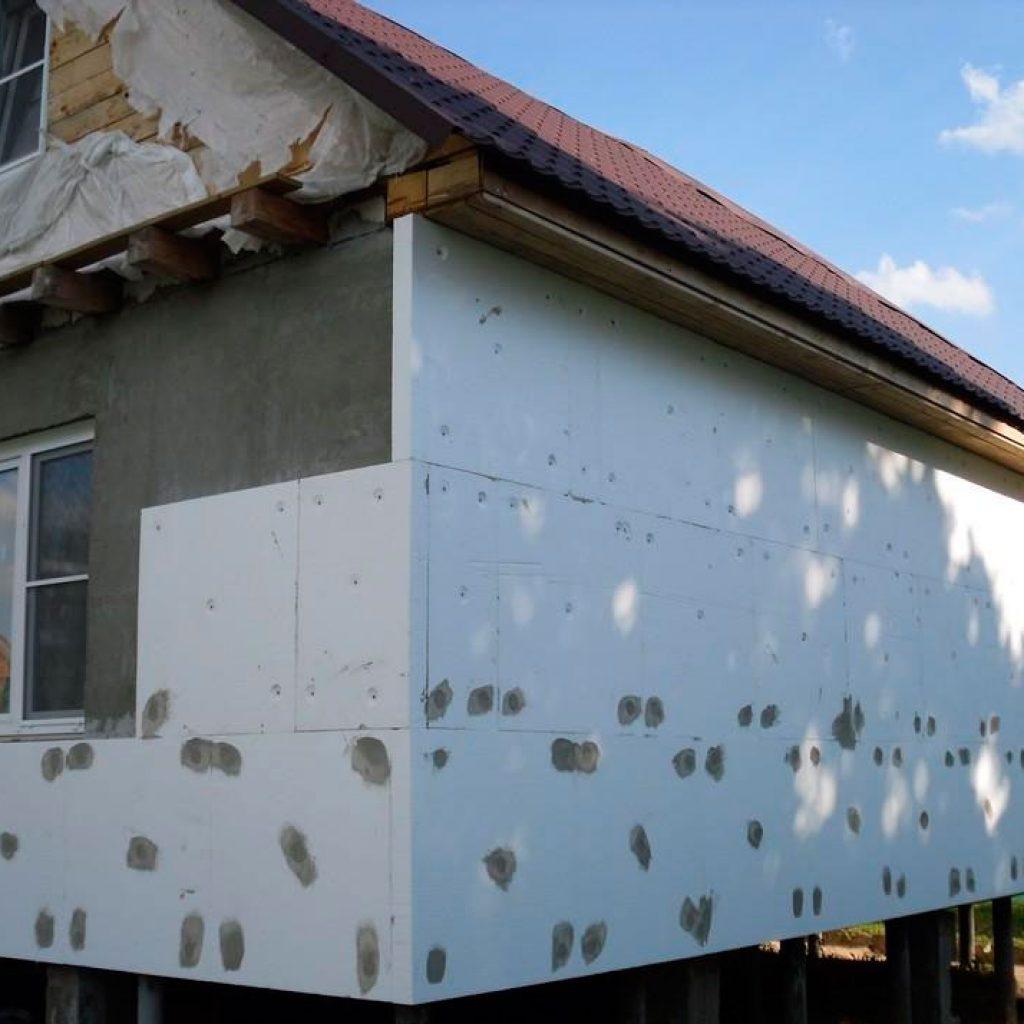 Утепление фасада дома плитами