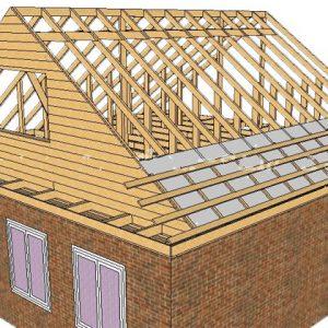 Гидроизоляция и обрешетка двускатной крыши