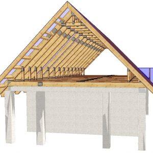 сооружение двускатной крыши