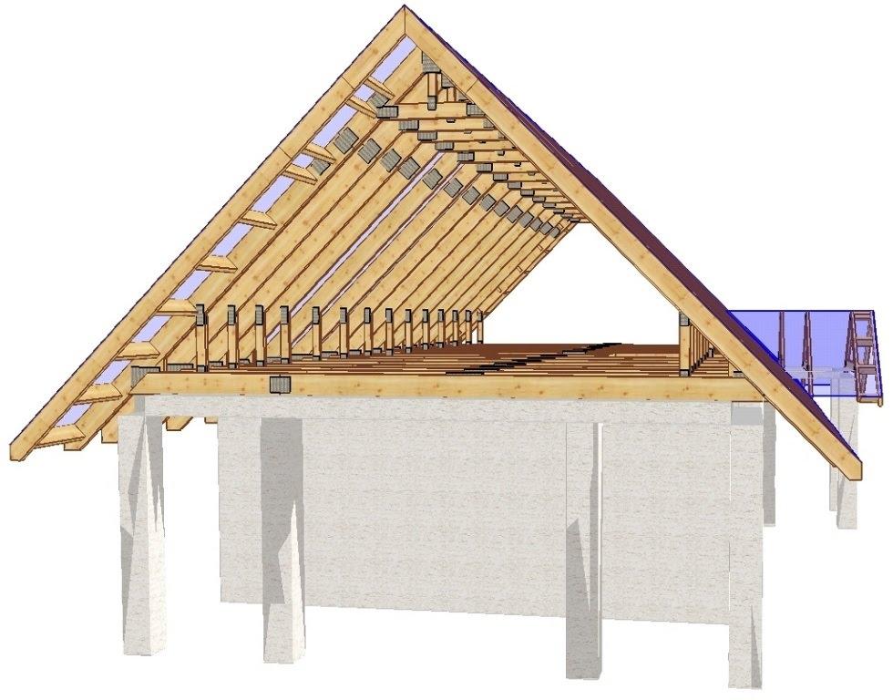 Как построить двухскатную мансардную крышу своими руками
