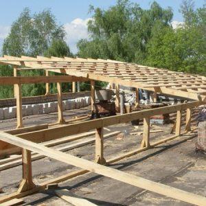 Возведение односкатной крыши
