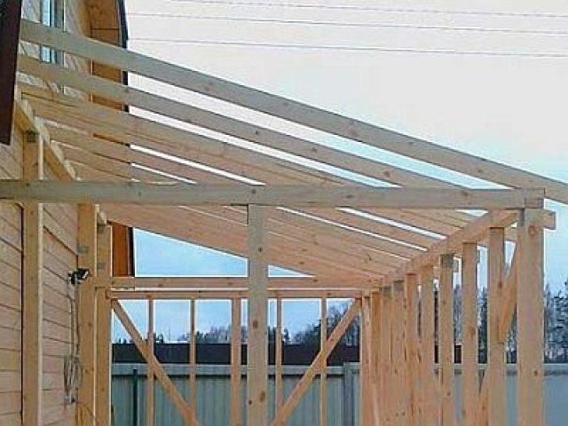 Односкатная крыша своими руками для пристройки к