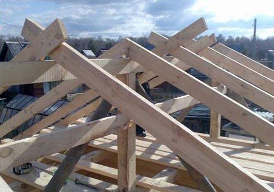 Стропила для двускатной крыши