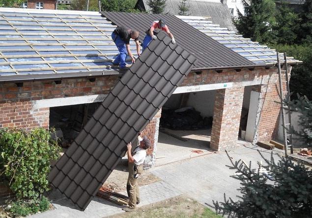Монтаж крыши гаража своими руками