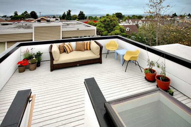 Терраса на плоской крыше