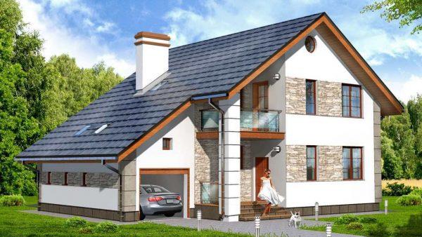Проект дома под одной крышей с гаражом