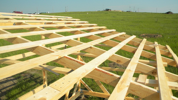 Обрешетка односкатной крыши