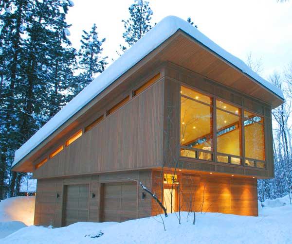 Классическая односкатная крыша