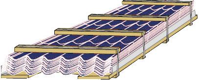 Упаковка металлочерепицы для хранения и упаковки