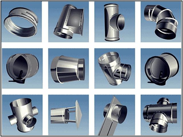 Основные элементы вентиляционной системы