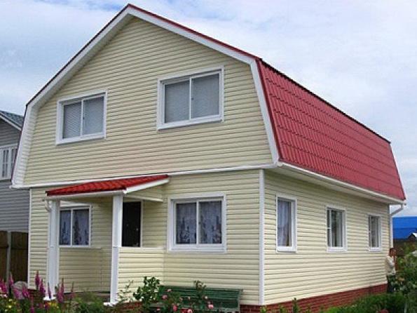Трапециевидный пятиугольный фронтон крыши