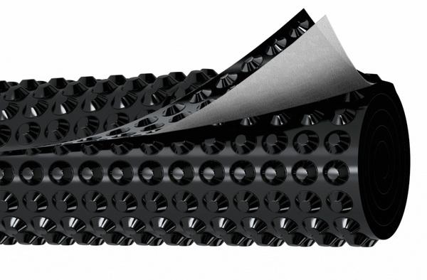 Профилированная мембрана для дренажного слоя