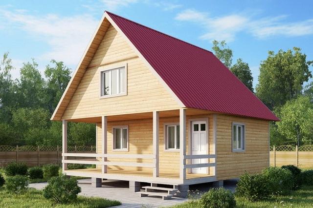 Симметричная двускатная крыша дома
