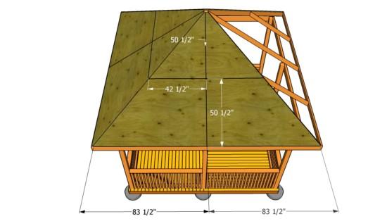 Расчет площади четырехскатной шатровой крыши