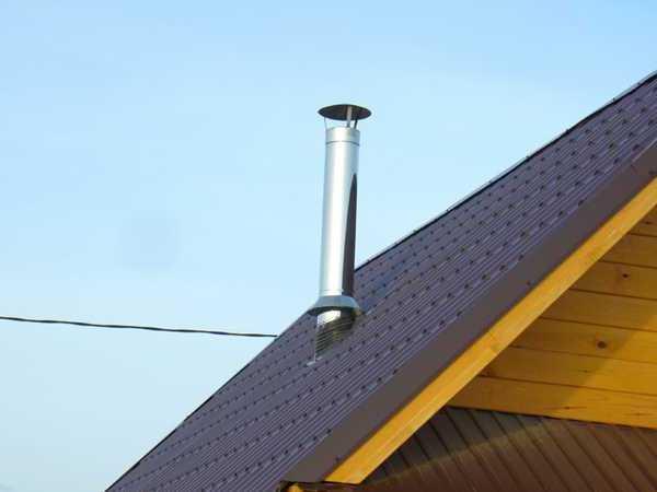 Вывод дымовой трубы отопительной системы на крышу