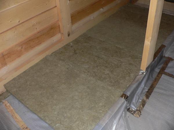 Утепление потолка базальтовыми матами