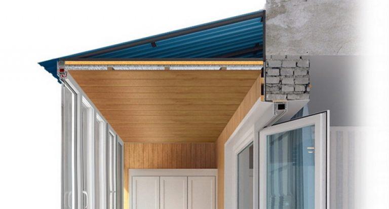 Крыша на балкон портфолио.
