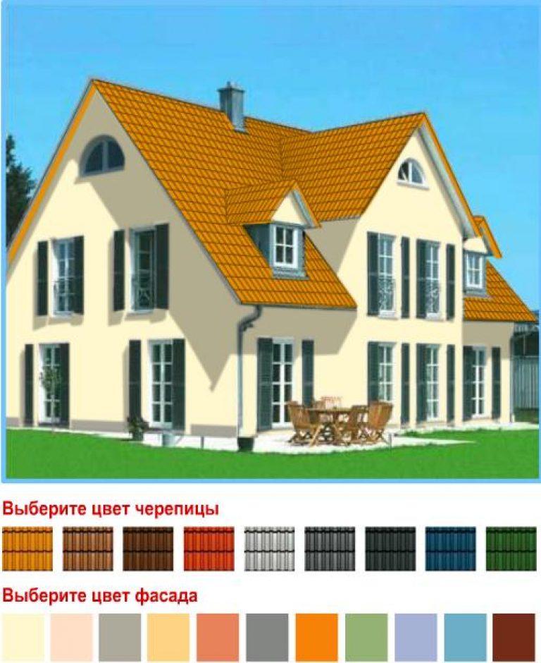 Сочетания цвета крыши и фасада дома фото