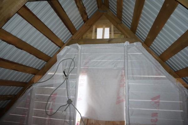 Утепление фронтона крыши с внутренней стороны