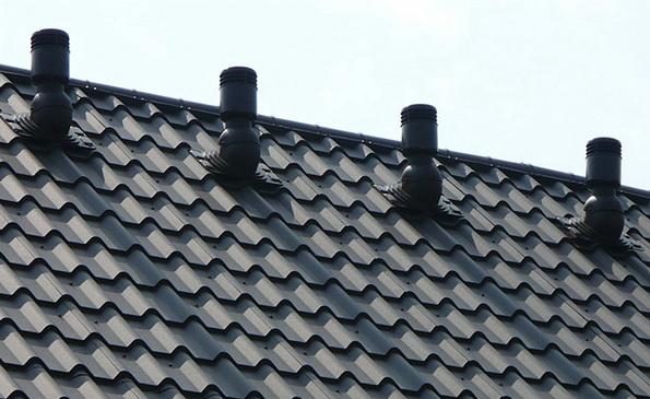 Установка аэраторов на крыше