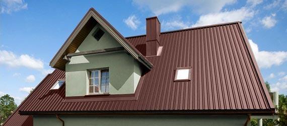Крыша частного дома из профнастила