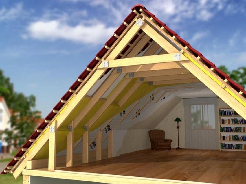 Крыша трехскатная своими руками с фронтонами фото