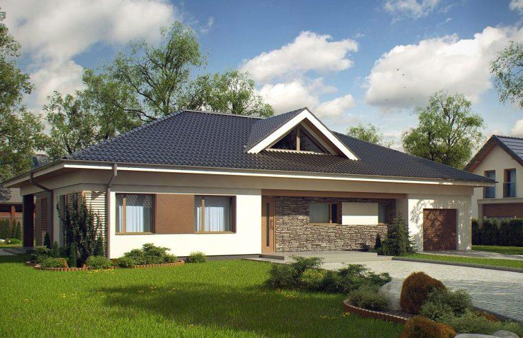 Крыша одноэтажного коттеджа из металлочерепицы