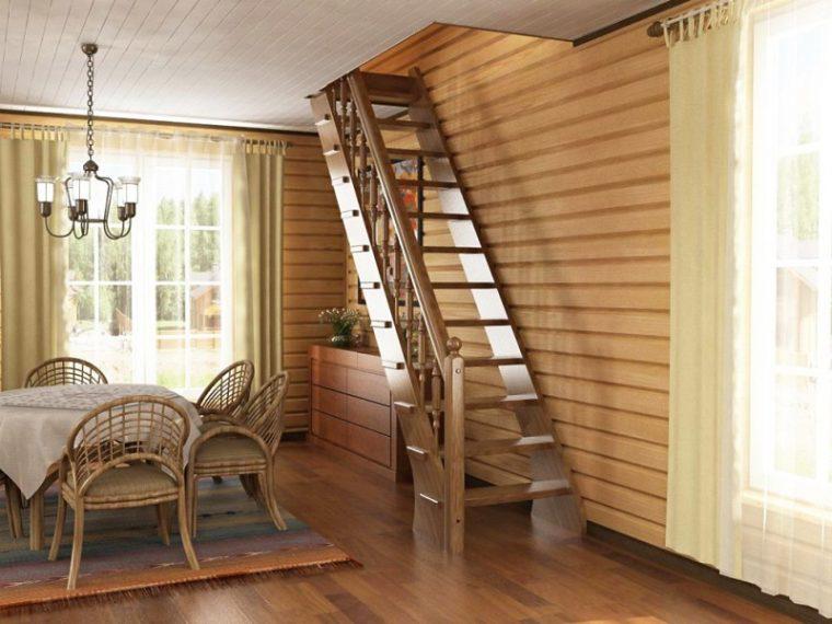 Лестница на чердак в загородном доме