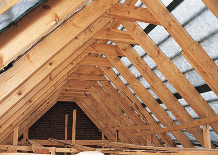 Стропильная система двускатной крыши частного дома