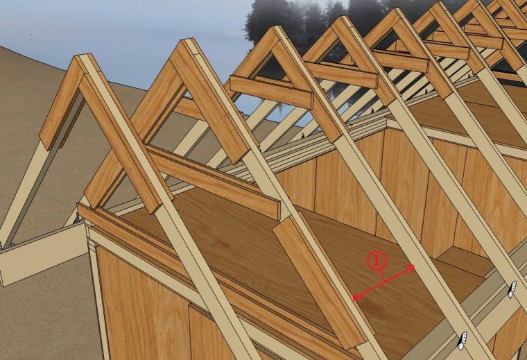 Шаг стропил двускатной крыши
