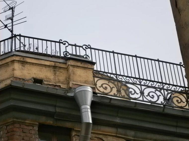 Декоративное ограждение на крыше