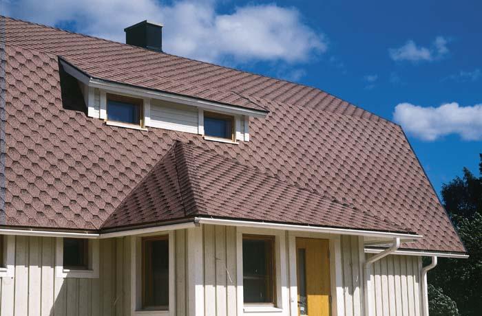 Крыша дома из гибкой черепицы Katepal Katrilli