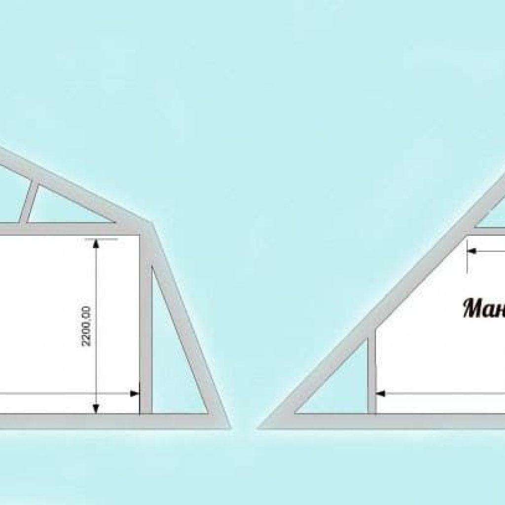 Мансардная крыша своими руками 33