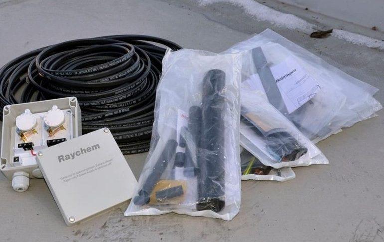 Комплектация системы антиобледенения и обогрева водостоков Raychem