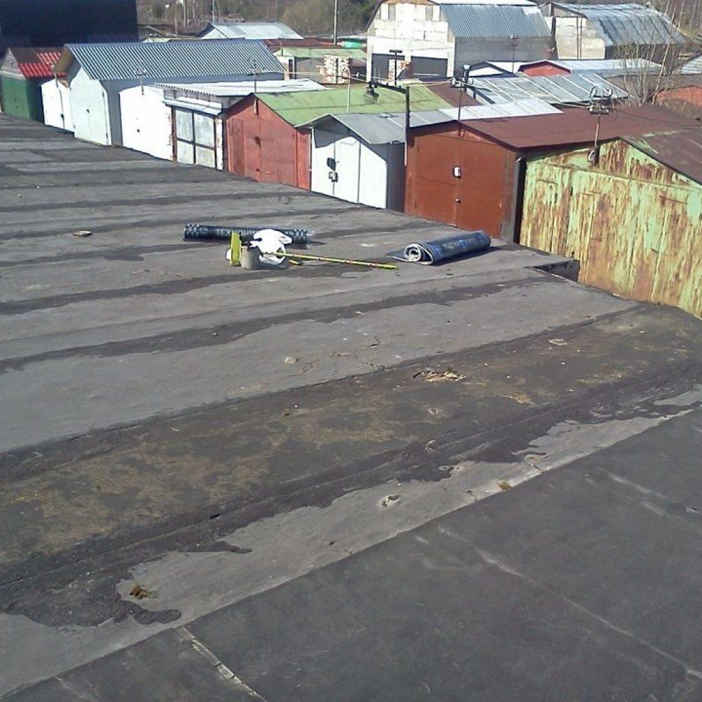 Покрыть крышу на гараже