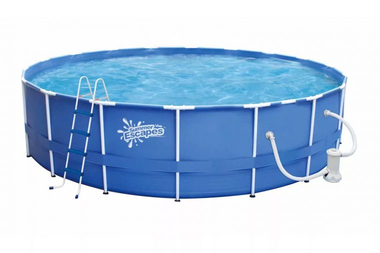 Устройство круглого каркасного бассейна