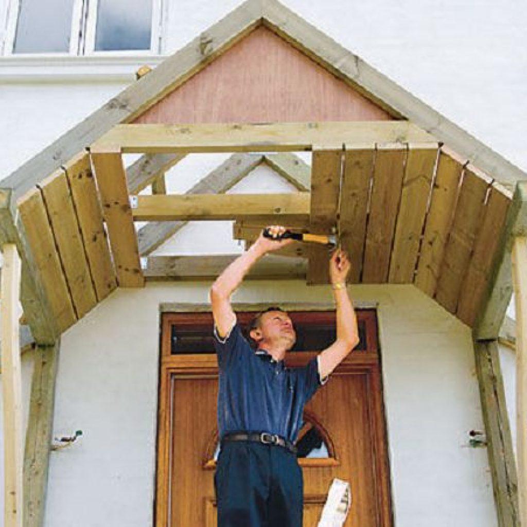 Как сделать крышу для крыльца