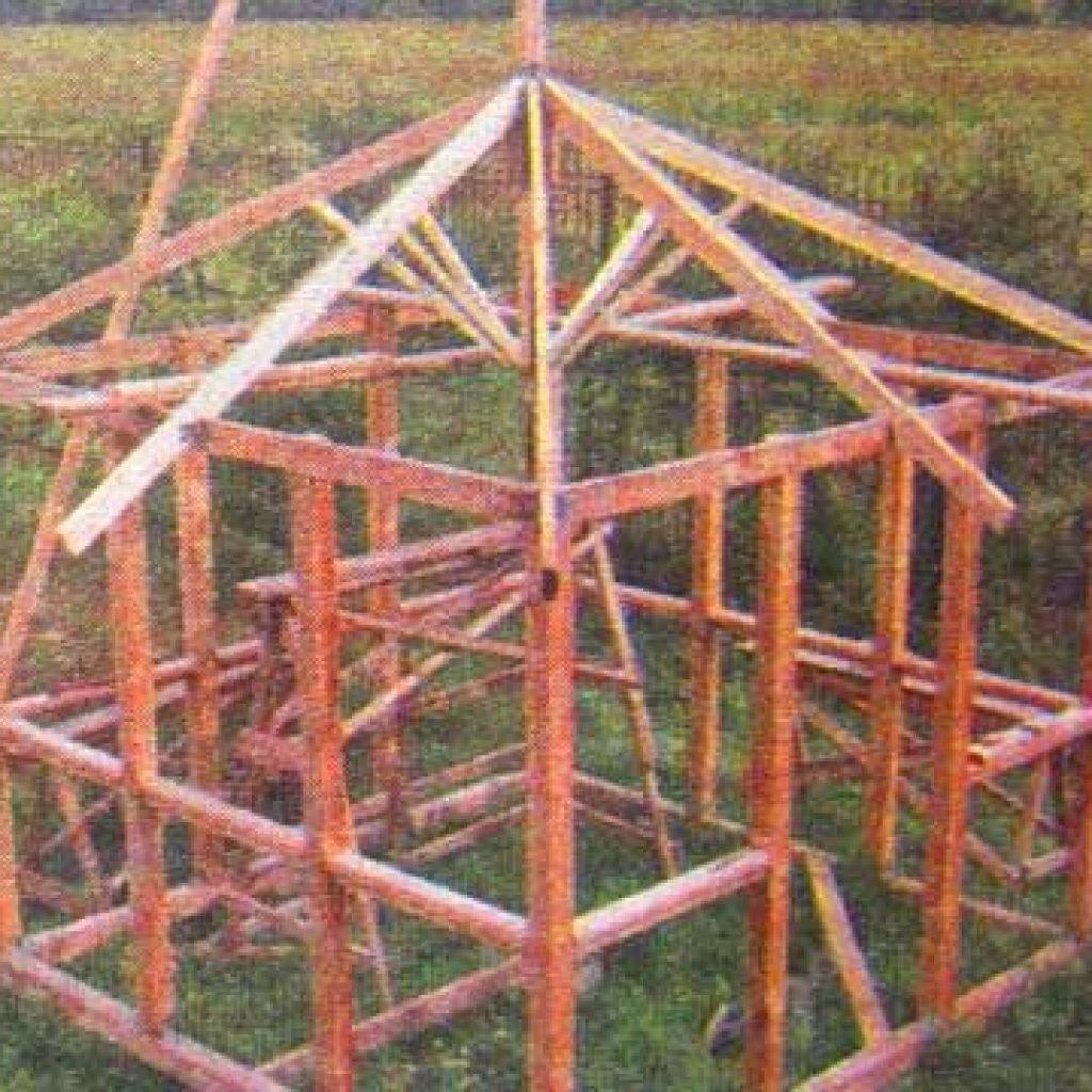 Четырёхскатная крыша для беседки своими руками фото