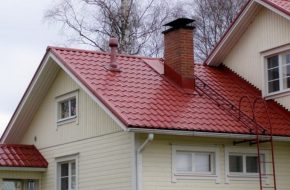 Монтируем лестницу на крышу