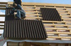 Крепление шифера на крыше