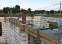 Как правильно сделать армопояс под крышу?