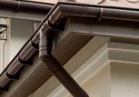 Как лучше установить водостоки на крыше?