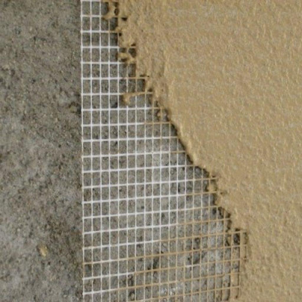 Армирование утеплителя сеткой