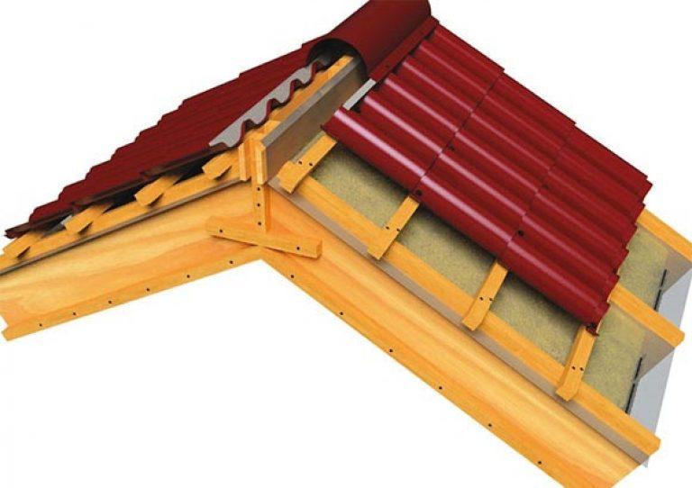 как правильно крепить уплотнитель на конек крыши