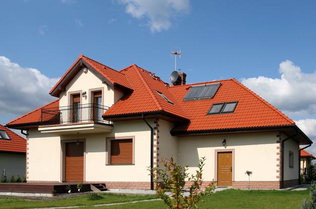 Красивая ломанная крыша