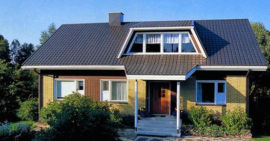 Привлекательный вид крыши из металлочерепицы