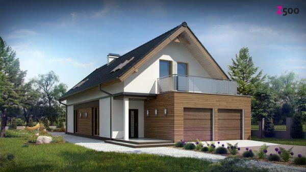 Функциональный мансардный дом с гаражом