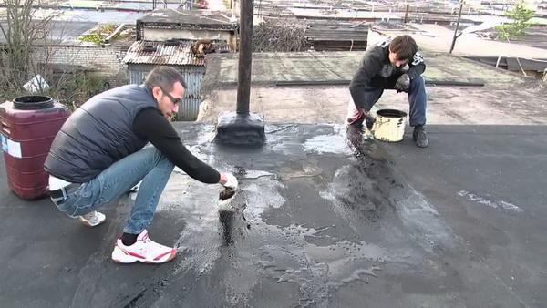 Гидроизоляция крыши гаража битумом