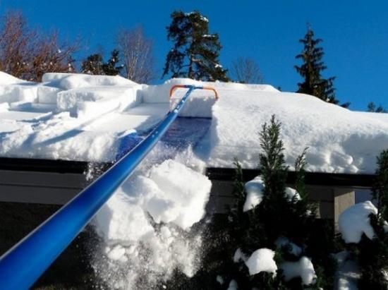 Приспособления для уборки снега с крыш